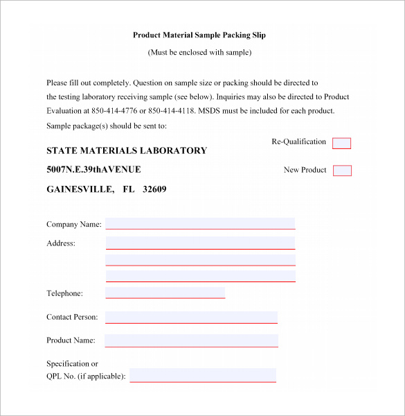 Packing Slip Sample 6 Documents in PDF – Packing Slip Template