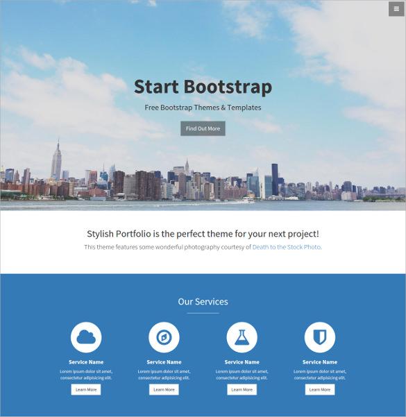 free portfolio website template .