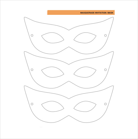 Sample Masquerade Mask Template   Documents In Pdf Psd  Vector