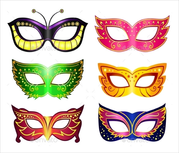 graphic relating to Masquerade Mask Template Printable identified as 17+ Extraordinary Masquerade Mask Templates - Phrase, PSD, EPS, AI