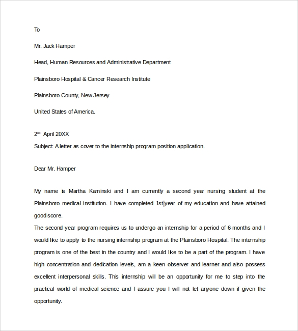 Superbe Nursing Student Resume Cover Letter