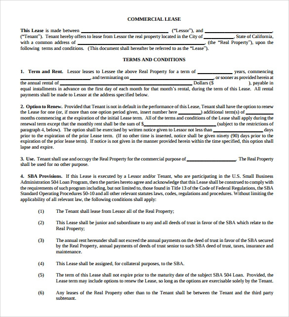 Sample Property Lease Agreement Template   Documents In Pdf