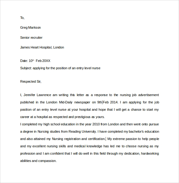 New Cover Letter Cover Letter For New Grad Nurse Resume Cv Format ...