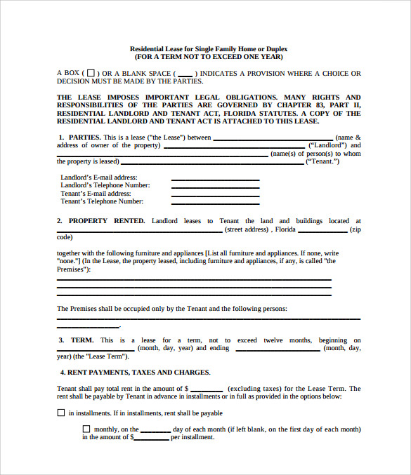 Sample Property Lease Agreement Template - 8+ Documents In Pdf