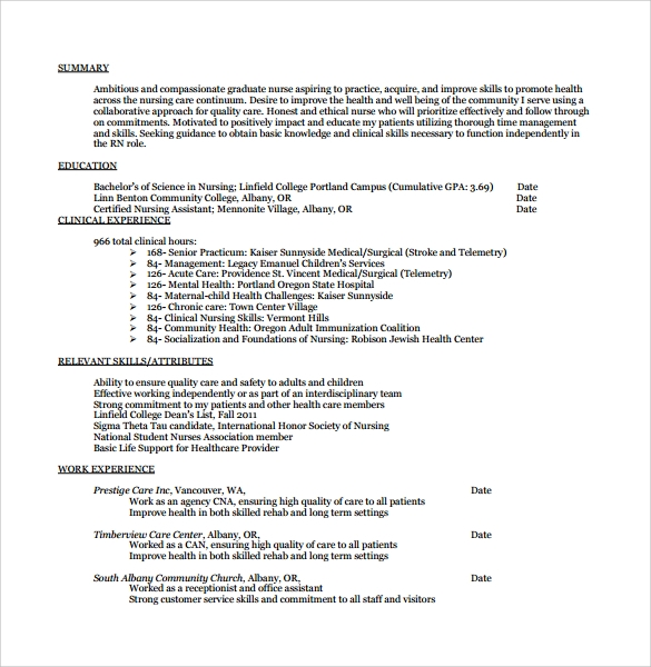 Nurse Cover Letter PDF For Free