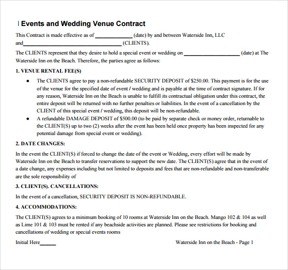 Sample Vendor Contract Template   Free Samples Examples Format