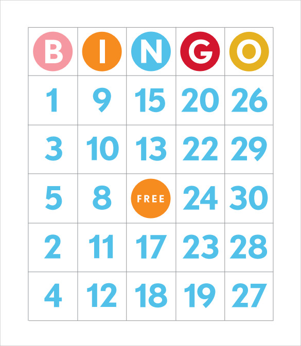 Sample Bingo Card - 11+ Documents In Pdf, Word