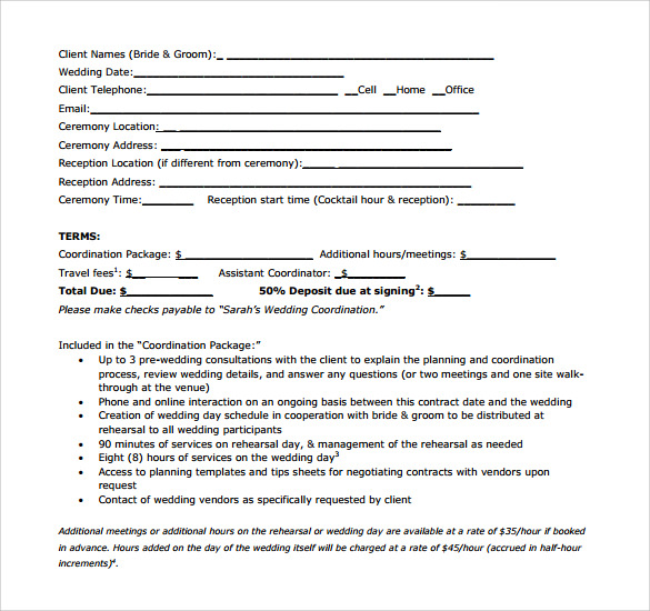 Doc750971 Vendor Agreement Format Agreement Form 86 Similar – Vendor Contract Template