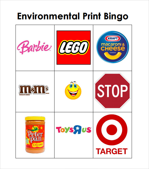 photograph relating to Printable Environmental Print identify Pattern Bingo Card - 11+ Data files within just PDF, Term