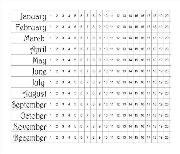 menstrual calendar pdf