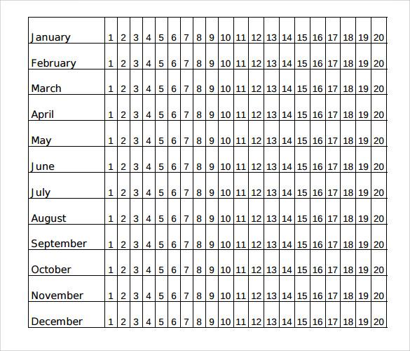 Sample School Calendar Template