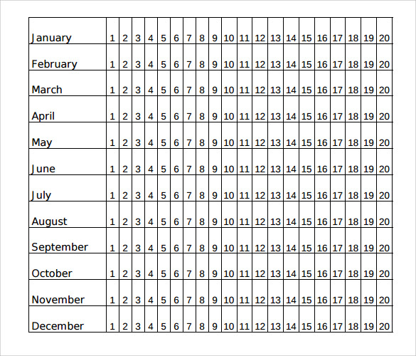 Menstrual Calendar - 11+ Free Samples , Examples & Format