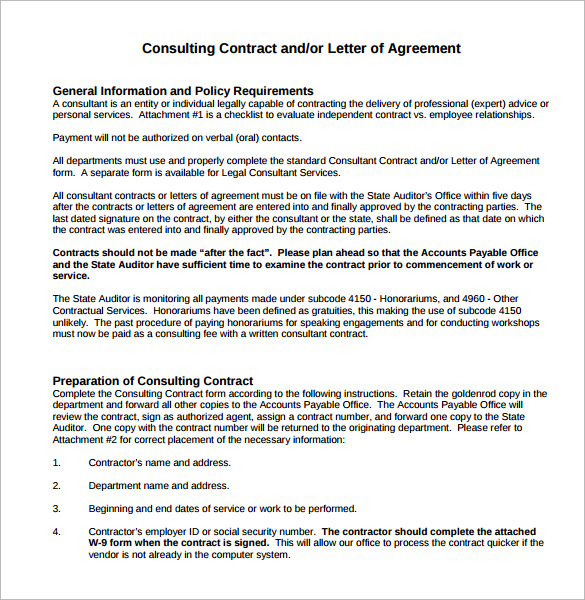 it consultant contract template - consultant contract template 10 download free documents