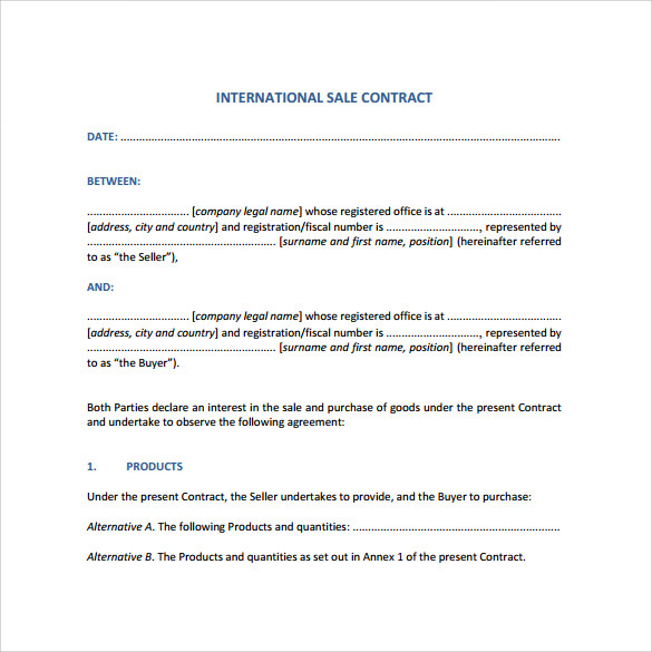 basic sales contract template