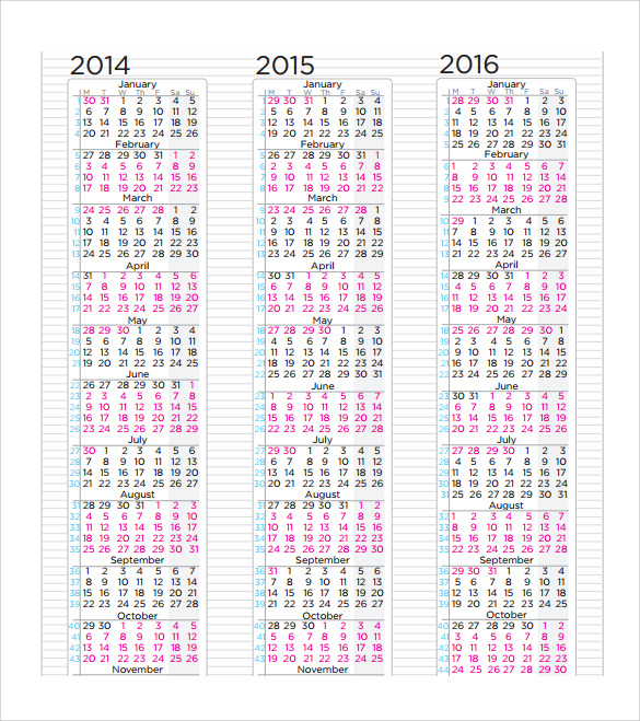 Sample  Month Calendar Template   Download Documents In Pdf  Psd