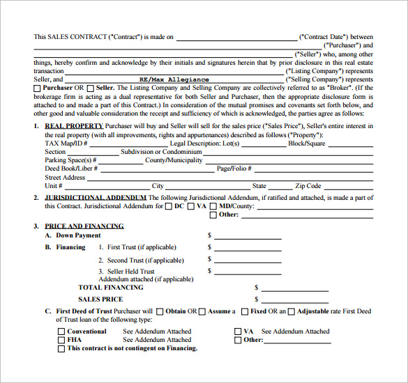 Commercial Purchase Agreement Templates