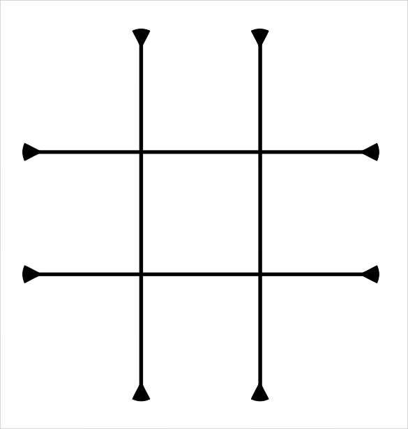 graphic relating to Free Printable Tic Tac Toe Board referred to as Tic Tac Toe Pattern - 19+ Instance, Structure