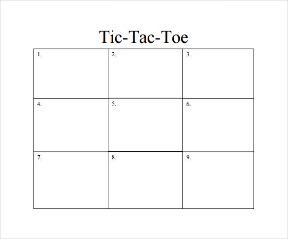 graphic relating to Free Printable Tic Tac Toe Board referred to as Tic Tac Toe Pattern - 19+ Case in point, Layout