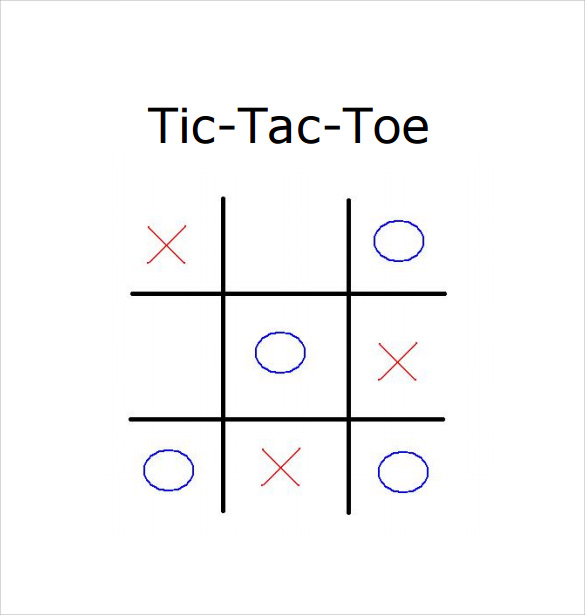 photo about Free Printable Tic Tac Toe Board named Tic Tac Toe Pattern - 19+ Case in point, Structure