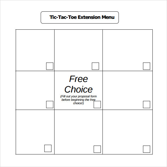 Tic Tac Toe Sample   Example Format