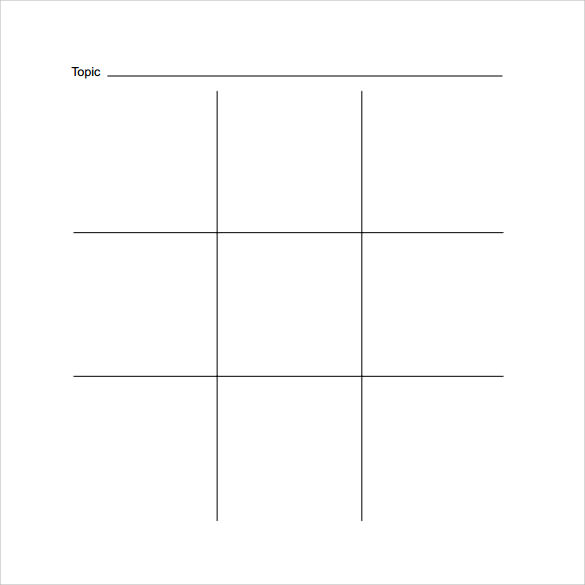 tic tac toe board online template