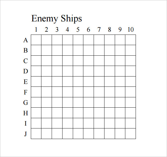 The gallery for --> Battleship Game Grid