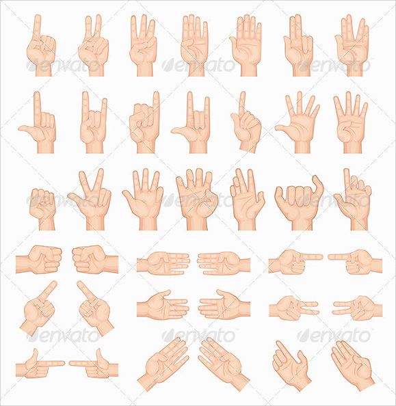 collage of hands