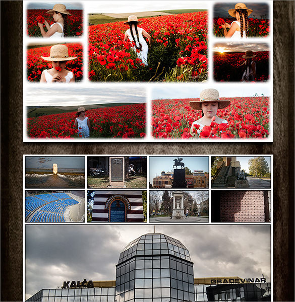 automated photo collages templates