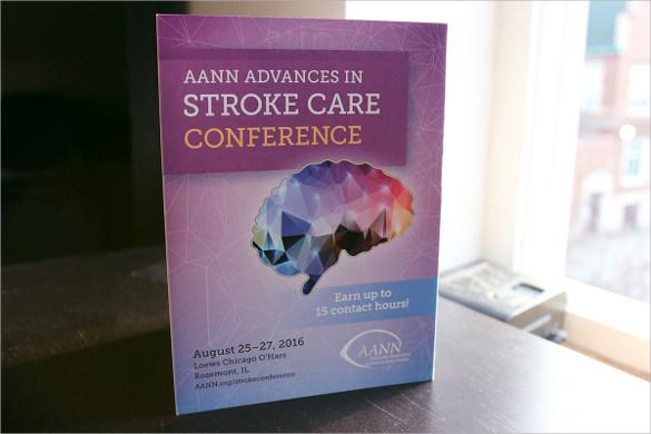 elegant conference brochure