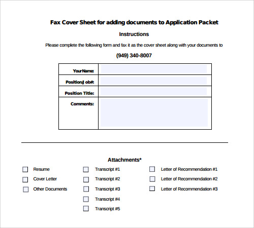 business fax cover sheet format