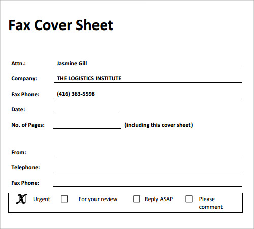 Sample Fax Cover Sheet Template 27 Documents in PDF Word – Funny Fax Cover Sheet