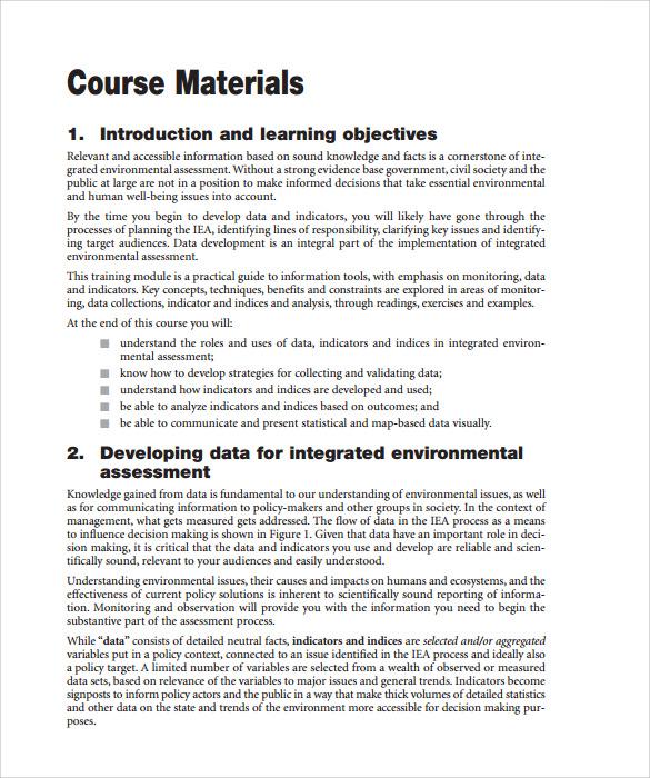Sample Training Manual Template