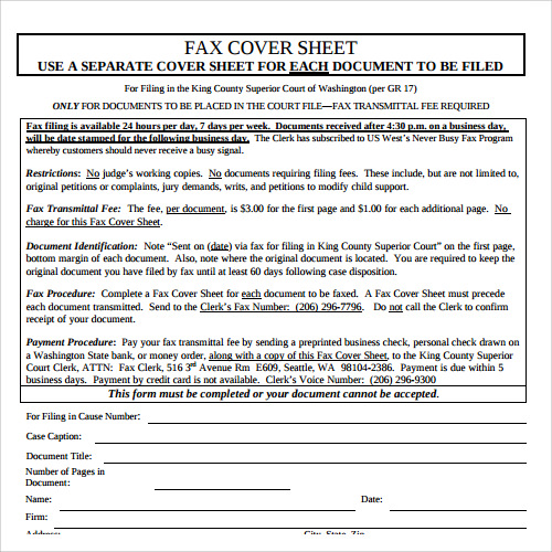 fax cover sheet for cv free1