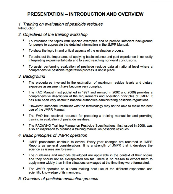 Contemporary Operations Manual Template Free Model U2026