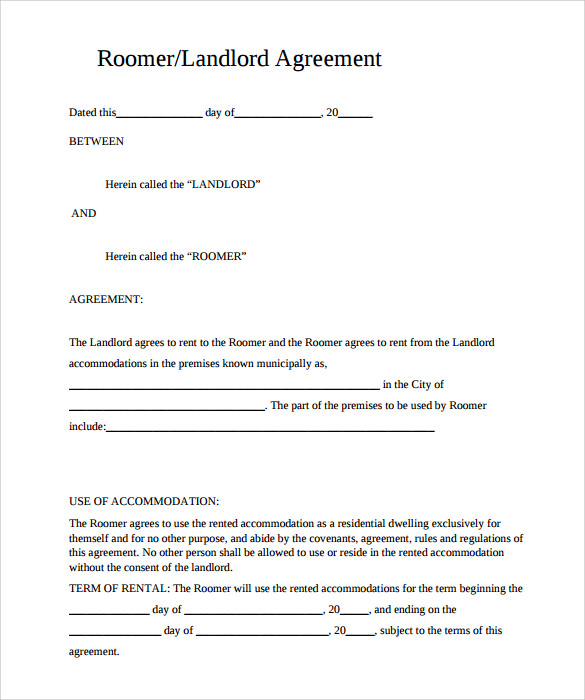 Sample Rental Agreement Template 10 Documents in PDF – Free Rental Contracts