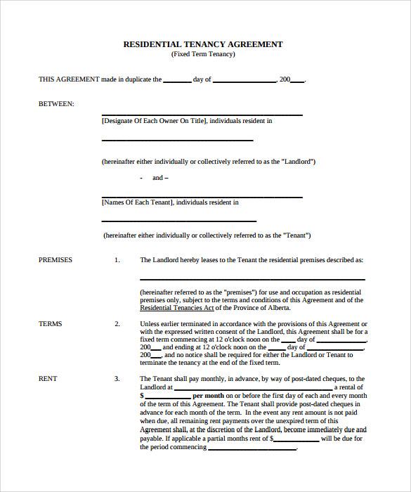 free rental agreement template .