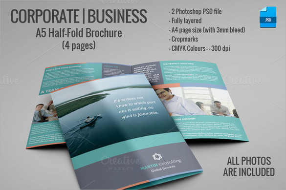 psd template brochure - 26 half fold brochures sample templates