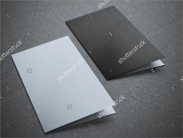 blank half brochure template