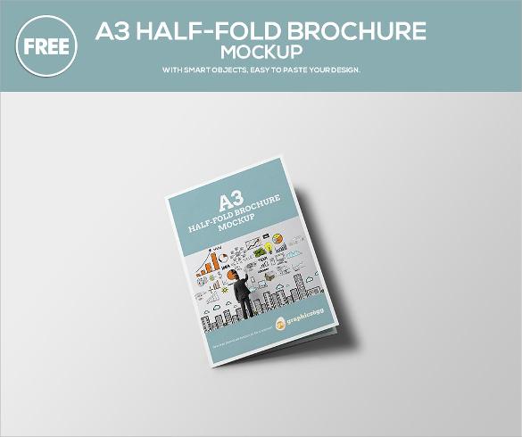 26 half fold brochures 25 psd vector eps for Free half fold brochure template