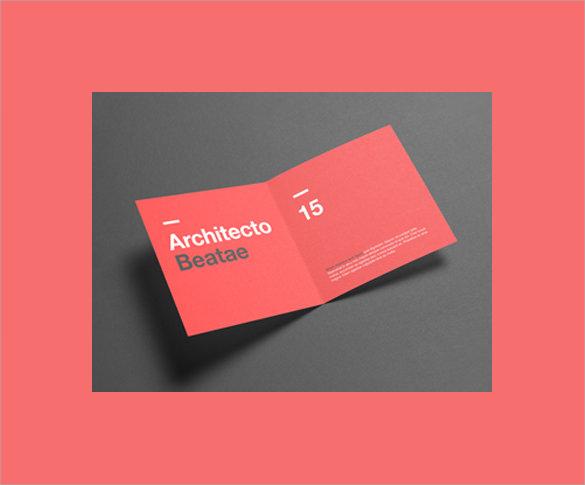 colourful half brochure template