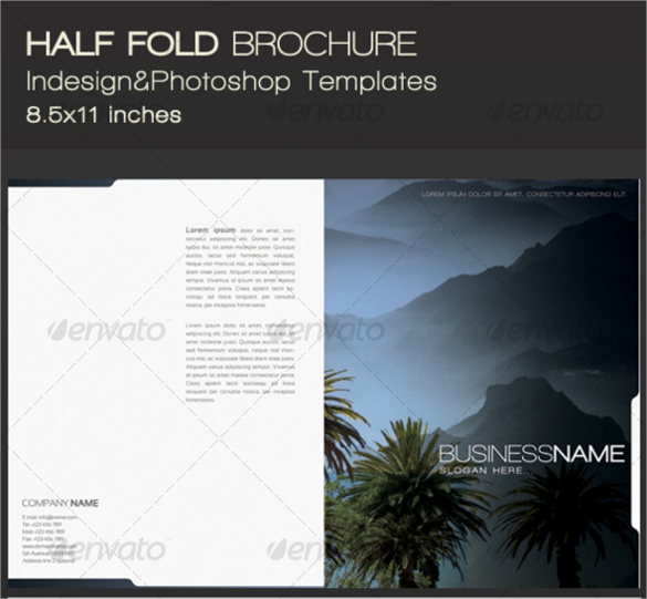 in design half fold brochure template indesign half brochure template