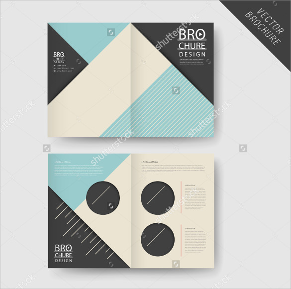 Half Fold Brochures   Psd Vector Eps