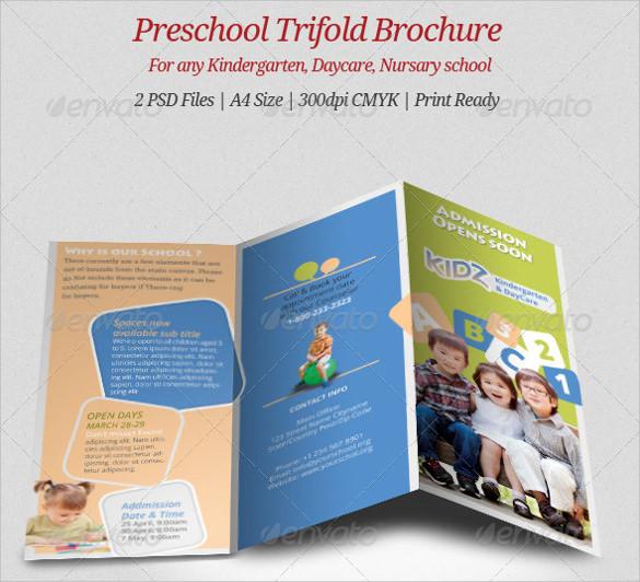 dazzling kindergarten brochure