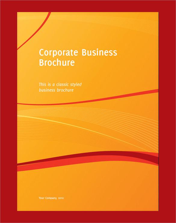 business half brochure template