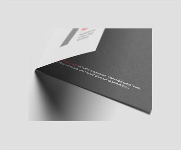 elegant half brochure template
