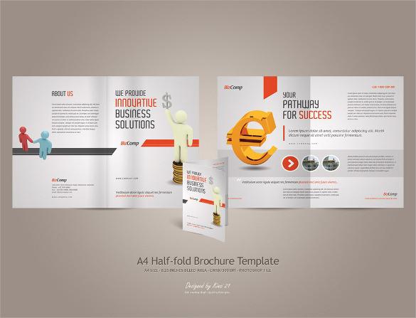 excellent half brochure template