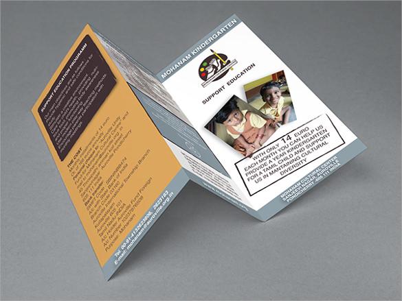 wondrous kindergarten brochure