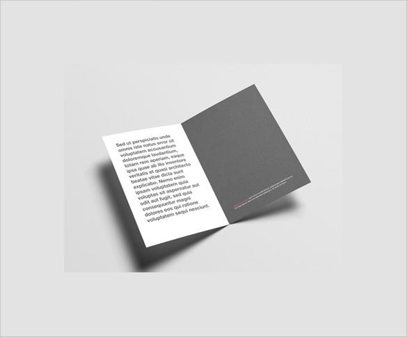 half fold invitation brochure template