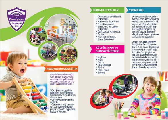 Attractive Kindergarten Brochure Template 15 Download