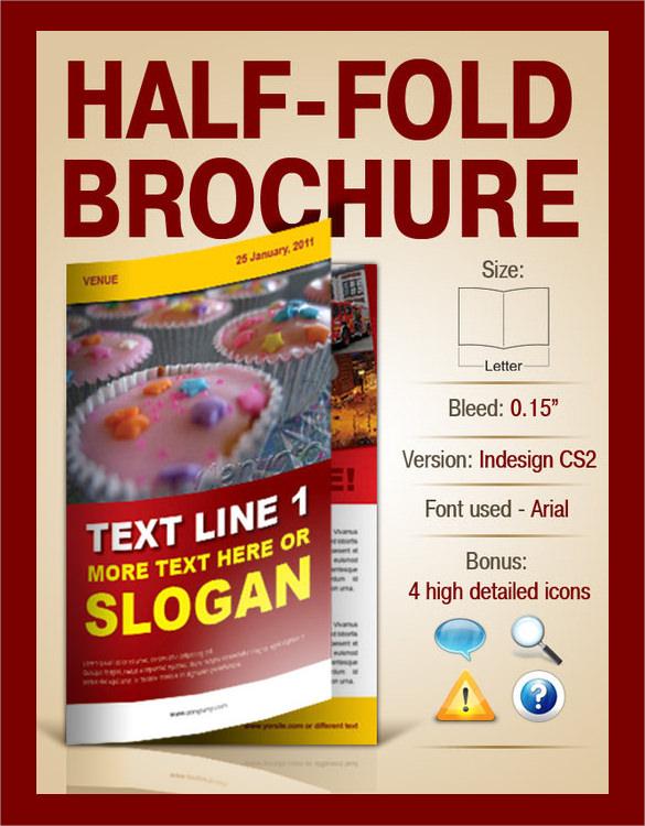 marvelous half fold brochure template